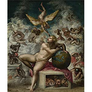 Oil Painting 'After Michelangelo - The Dream Of Human Life,after 1533' 18 x 21 inch / 46 x 55 cm , on High Definition HD canvas prints is for Gifts And Dining Room, Hallway And Kids Room decor, home