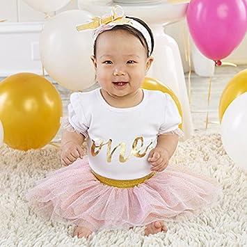c8510f15b5bb Amazon.com   Baby Aspen My First Birthday 3-Piece Outfit