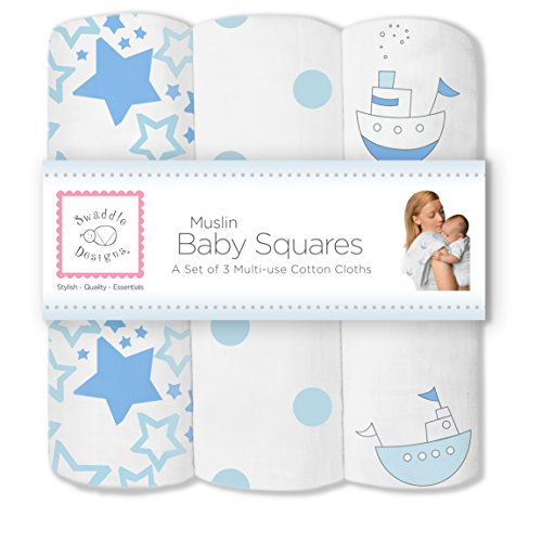 SwaddleDesigns Cotton Muslin Squares Pastel