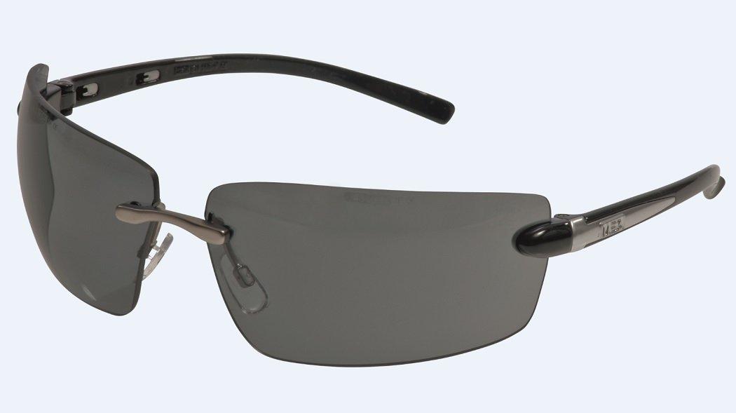 MSA Safety Alaska Smoke EN166 mit UV400 Filter - getö nte Freizeit und Arbeitsschutzbrille mit weitem Sichtfeld