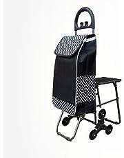 Carrito de escalada para escaleras Carritos de supermercado con asiento plegable Carrito de compras con ruedas