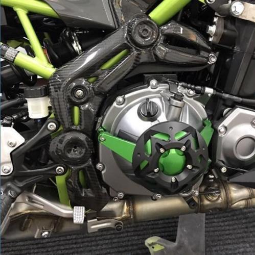 (Carbon Fiber Side Frame Body Cover Panel for 2017-2018 Kawasaki Z900)