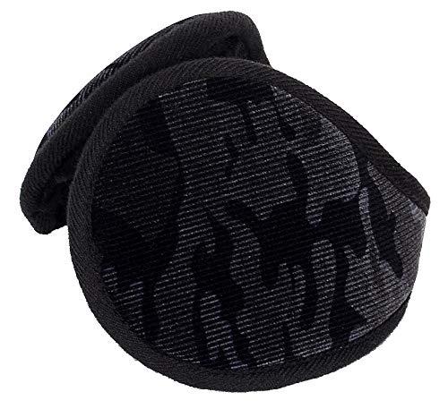 Runtlly Winter Foldable EarMuffs Warmers Furry Earmuff Soft Winter Ear Warmers 07 Black