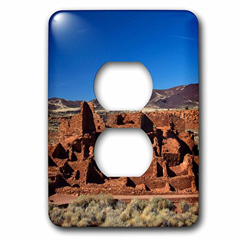 3dRose Danita Delimont - Arizona - Arizona, Wupatki. Wukoki Pueblo in Wupatki National Monument 01 - Light Switch Covers - 2 plug outlet cover - Flagstaff Outlet