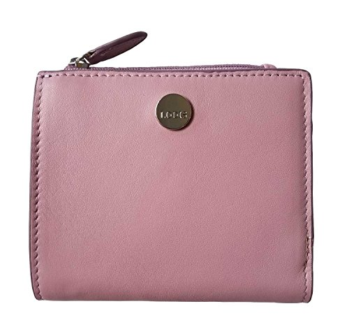 LODIS Leather RFID French Bifold Wallet (Mauve) ()