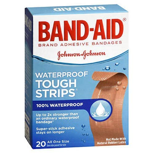 (BAND-AID Waterproof Tough-Strips Bandages 20 ea (Pack of 3))