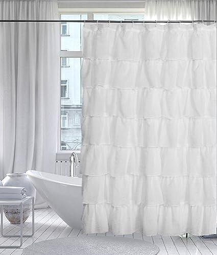 Gee Di Moda Gypsy Luxury Ruffle Bathroom Shower Curtain 70quot X 72quot