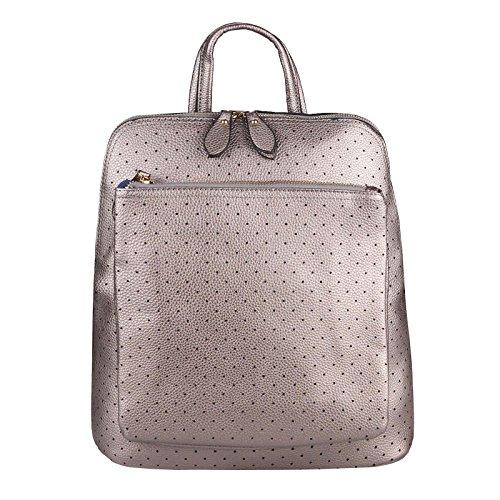 OBC Only-Beautiful-Couture - Bolso mochila para mujer Verde Grün 32x32x14 Cm ca.: 32x32x14 cm (BxHxT) Antik Silber 32x32x14 Cm