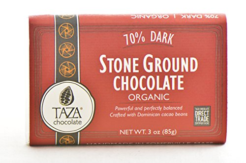 Stone Ground Organic Chocolate (Taza Organic Stone Ground Chocolate Bars - 70% Dark (3 ounce))