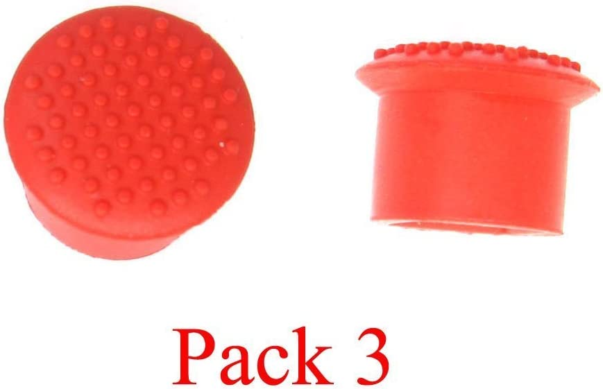 LeFix 3 Pack Classic Trackpoint Red Caps(Soft Dome) for Lenovo Thinkpad X Series (X230 and Before X230),T Series(T430,T430i,T530,Before T430,T530),E Series(E430,Before E430)