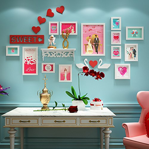 Love photo wall combination of love picture frame wall wedding photo wall wedding room decoration painting 5 Inch 7 Inch 14 Inch ( Color : White ) by Yo-Yo2015 (Image #2)