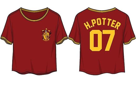 c98f6e3a135d17 Amazon.com  Harry Potter Gryffindor 07 Juniors Crop Top Jersey Shirt New  Licensed (Medium)  Clothing