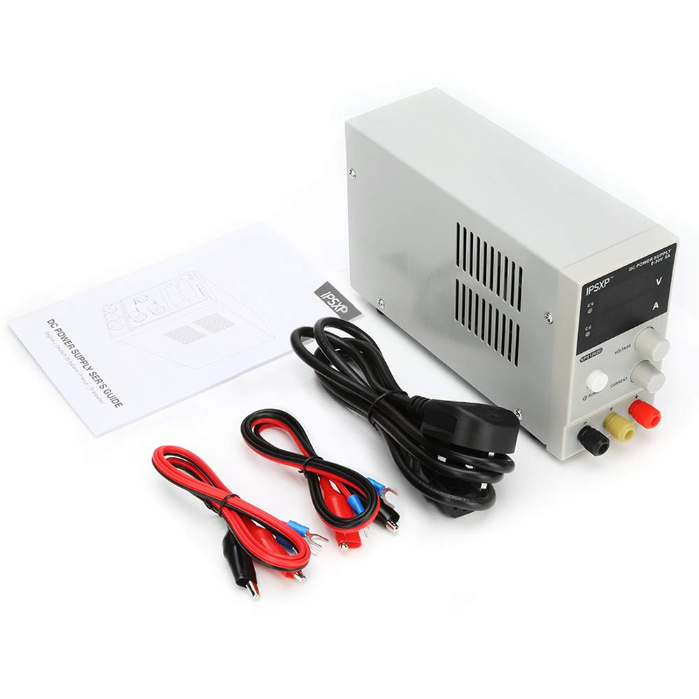 Variable DC Power Supply, IPSXP KPS1203D Adjustable Switching Regulated Power Supply Digital, 0-30 V 0-10 A with Alligator Leads US Power Cord by IPSXP (Image #7)
