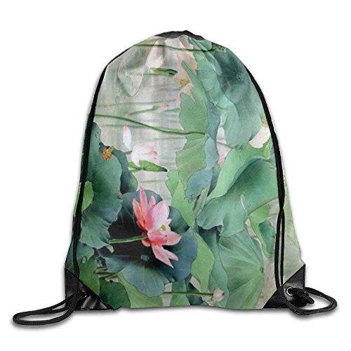 Print guolinadeou Shoulder Bags Bag Rucksack Backpack Gym Bag Lotus Drawstring Budding Sport 7aqnHafE