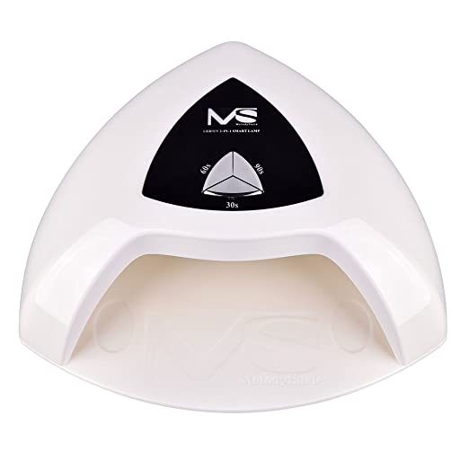 MelodySusie Eos Pro12W UV/LED Nail Lamp - Smart Nail Dryer, Cures All Major Gel Nail Polish Brands, White