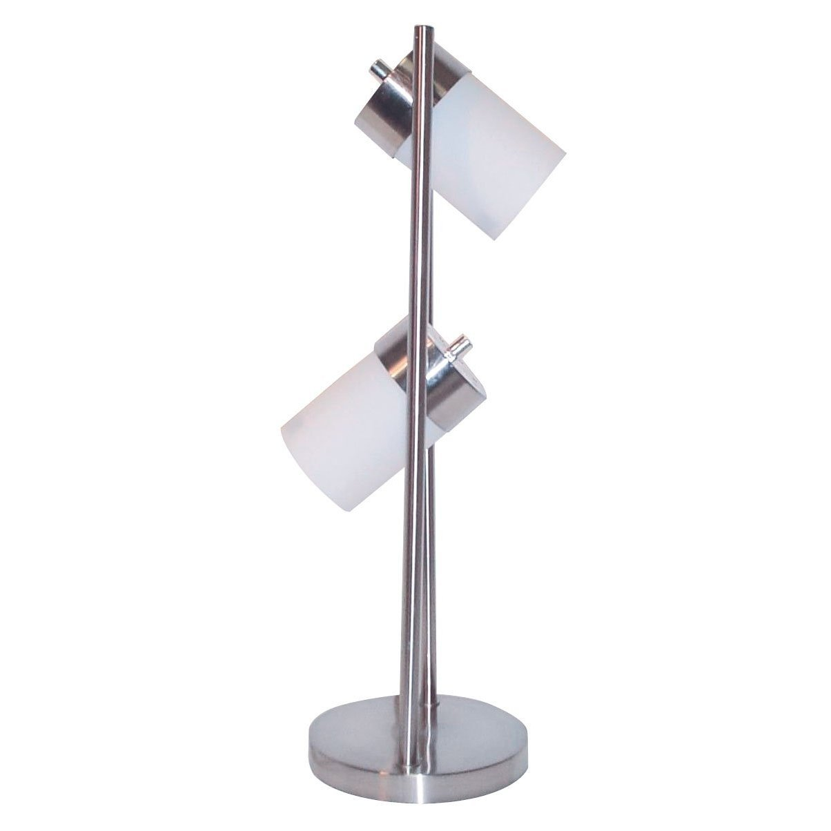 HPP Inc 3031TW 25-Inch 2-Light Adjustable Table Lamp, White