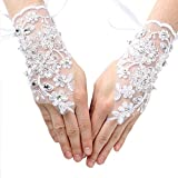 iGirlDress Girls Fingerless Communion Flower Girl Special Occasion Gloves