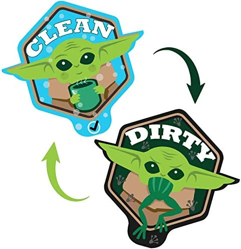 Baby Yoda Dishwasher Magnet Clean Dirty Sign, Double Sided Clean Dirty Magnet for Dishwasher, Baby Yoda Magnet The Child Kitchen Accessory (Grogu)