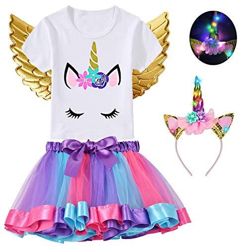 Baby Led Halloween Costumes - 4Pcs Baby Girls Unicorn Dress with