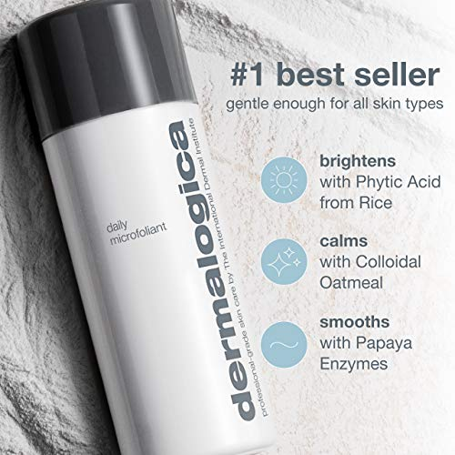 Dermalogica Daily Microfoliant, 0.45 Oz - Face Scrub Powder with Papaya Enzyme and Salicylic Acid