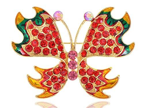 Silver Rhinestone Crystal Enamel Wedding Bridal Flower Butterfly Brooch Pin Gift (Parttern - Style-14)