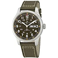Hamilton Men's Khaki Field Automatic Watch with Green Canvas Strap H70535081