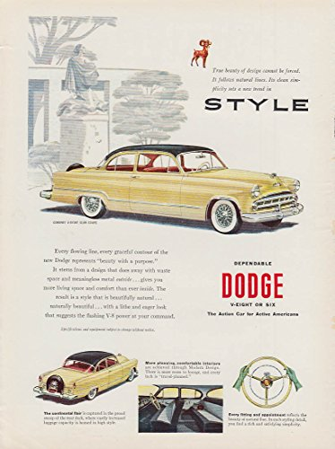 Style - Every flowing line Dodge Coronet Club Coupe ad 1953 NWK