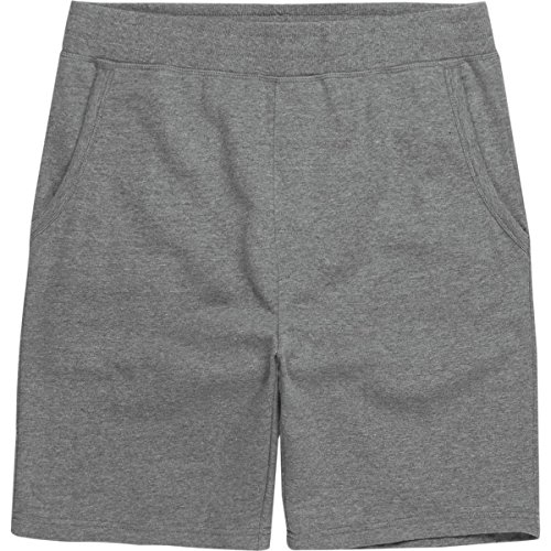 Cheap Free Country Mens Relaxed Fit Comfort Fleece Shorts, Jet Black