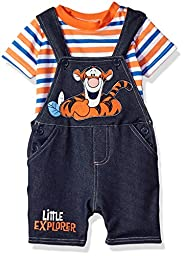 Disney Baby Boys\' 2 Piece Tigger Shortall Set, Blue, 12m
