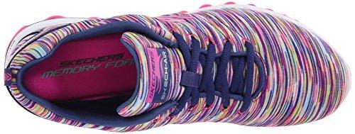 Skechers - Cyclones - 12108NVMT - Farbe: Dunkelblau-Grau-Rosa - Größe: 39.0