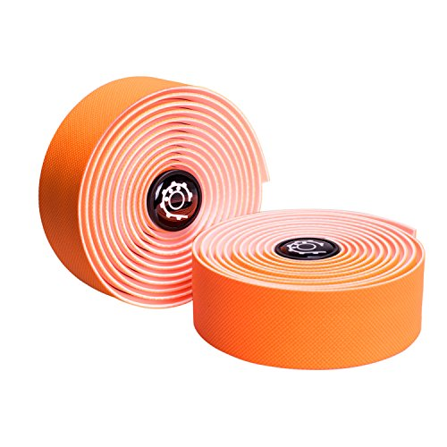 ike Handlebar Tape, High Performance Comfort Bar Tape For Cycling - 2PCS Per Set(Orange) ()