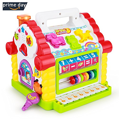 TOYK Kids toys Musical Colorful Baby Fun House, Many Kinds Of Music, - girls boys toddlers and baby toys-,Electronic Geometric Blocks Learning Educational Toys by Toyk
