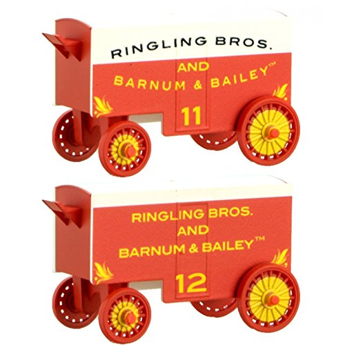 (Circus Wagon 2-Pack - Ready to Run -- Ringling Bros. and Barnum & Bailey #11, 12 (white, red))