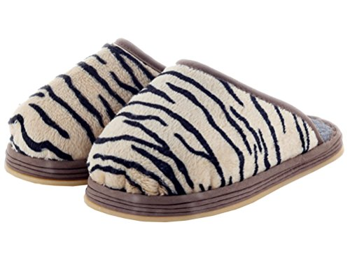Kids Slipper Cotton Stripes Home Slippers Cozy Tiger Fleece Kids Womens Warm Flat Mens iDuoDuo wqPSOO
