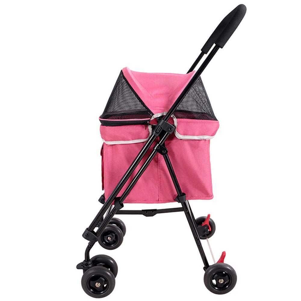 Lozse Pet Stroller Dog Pushchair Pet Trip Dog Cat cart Folding