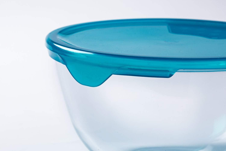 Pyrex/Bol 2 l avec couvercle en verre borosilicate r/ésistant aux taches