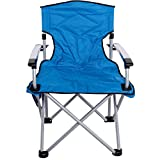 Sundale Outdoor Camping Folding Chair Aluminum Frame Heavy Duty for Travel, Hiking, Fishing, Picnic, Blue