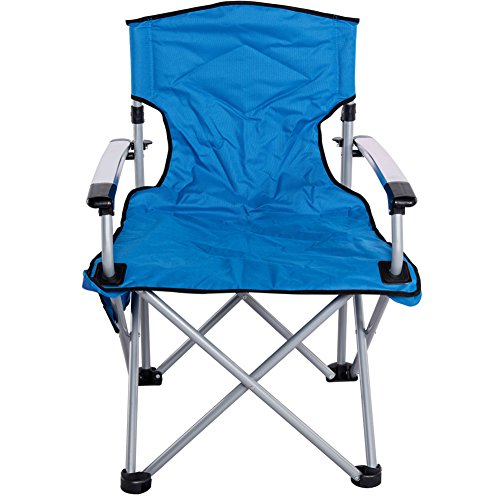 Sundale Outdoor Camping Folding Chair Aluminum Frame Heavy Duty for Travel, Hiking, Fishing, Picnic, - Aluminum Arm Chairs