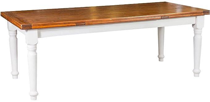 Mesa Country extensible de madera maciza de tilo estructura ...