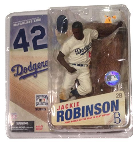 - Cooperstown Series 3 Jackie Robinson: Brooklyn Dodgers White Jersey w/Blue Lettering by T M P Intl