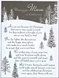 Grave Card - Missing You Mum At Christmas - Free Card Holder - CM03