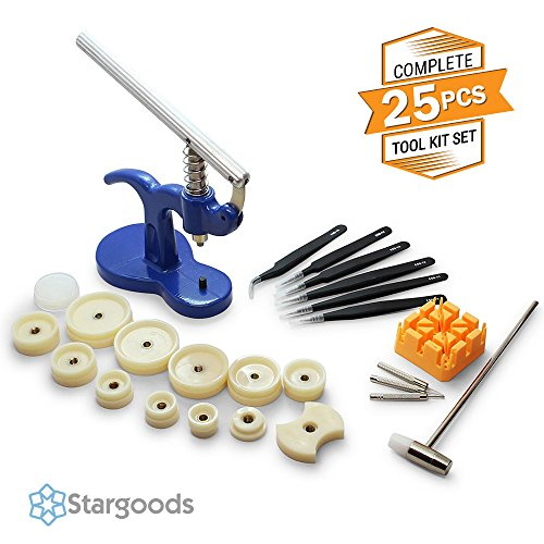 Stargoods Watch Press Desk Set - Watch Case Press, Link Remover & Tweezers by Stargoods