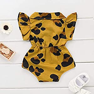 0-2Years,SO-buts Newborn Baby Girl Print Short Sleeve Romper Bodysuit Clothes Jumpsuit