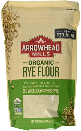 Arrowhead Mills Flour Rye Organic, 20 oz (Best Flour For Bread)