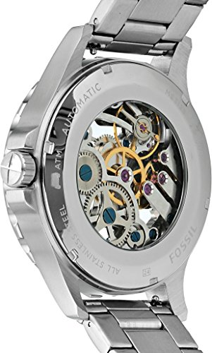 Fossil-Mens-Stainless-Steel-Automatic-Watch-ColorSilver-Toned-Model-ME3129