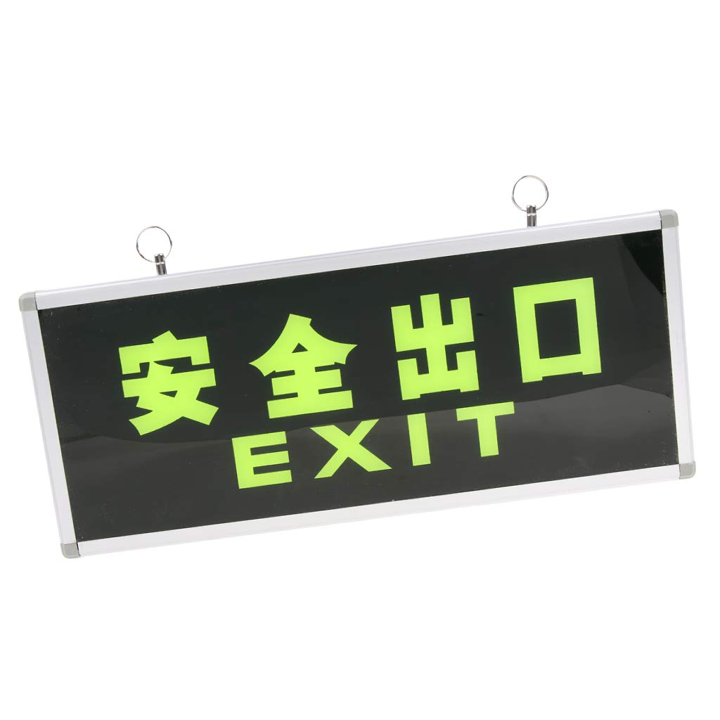 B Blesiya Safety Exit Sign Emergency Sign Evacuation Sign with Hanging Loop - Exit