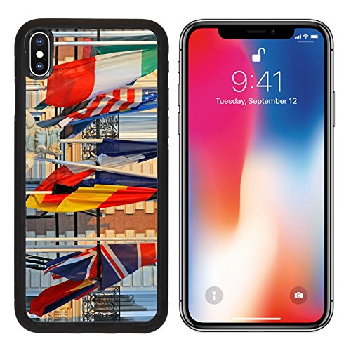 Msd Premium Apple Iphone X Aluminum Backplate Bumper Snap Case World International Flags At Poles In The Afternoon Image 19050288
