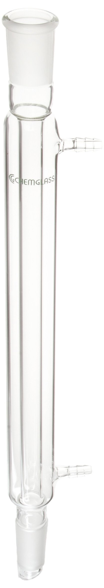 Chemglass CG-1218-05 Glass Liebig Condenser, 300mm Jacket Length, 420mm Height, 24/40 Joint by Chemglass