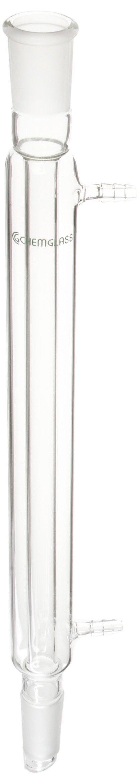 Chemglass CG-1218-05 Glass Liebig Condenser, 300mm Jacket Length, 420mm Height, 24/40 Joint