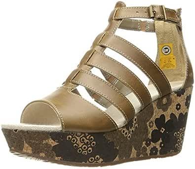 Caterpillar Gold Wedge Sandal For Women